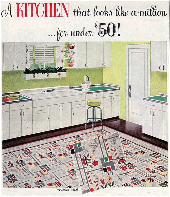 Retro Linoleum Kitchen Flooring: Kitschy, Googie, Mod: A Collection Of Other Ideas To Try