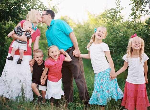 bright, happy family