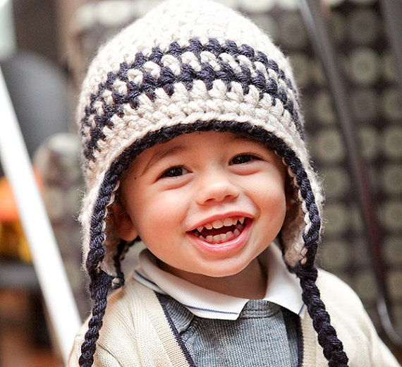 Baby Boys Winter Hat Boys Hat Kids Fashion  6 to by OffTheHookHats