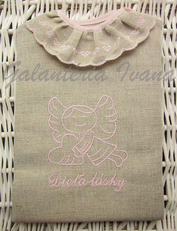 Košieľka na krst K21 ružová pre dievčatko