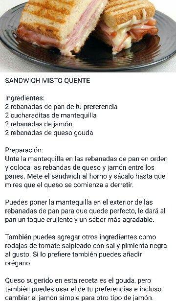 Sandwich misto quente.