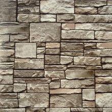 3d wallpaper10m moderne natrlichen rustikalen grauoff weirot ziegel stein wand pvc - Steinwand Grau