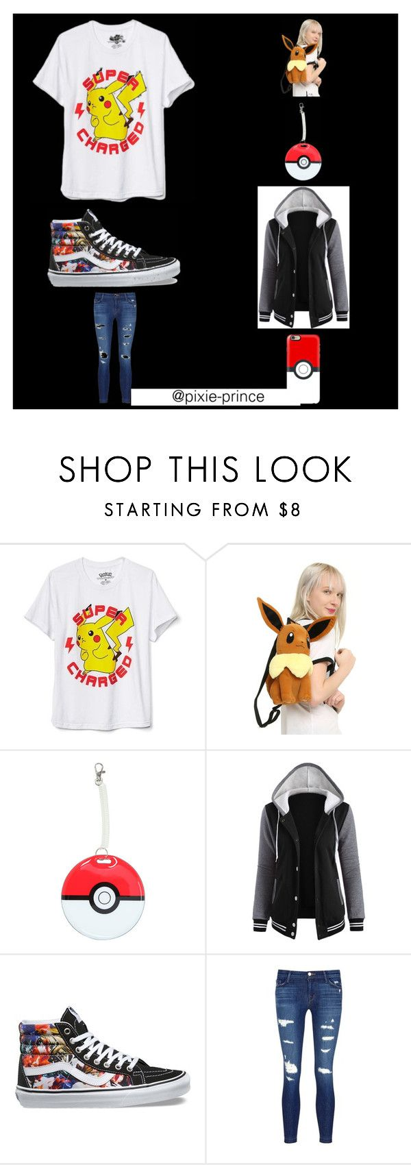 """Pokemon"" by kira-meldrum on Polyvore featuring New World Sales, Nintendo, Vans, J Brand and Casetify"