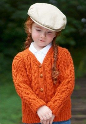 Free knitting pattern for children's cardigan with cables Bus Stop Cardigan - Patons cardigan features cozy cables for sizes 2 yrs, 4 yrs, 6 yrs, 8 yrs, 10 yrs, and 12 yrs