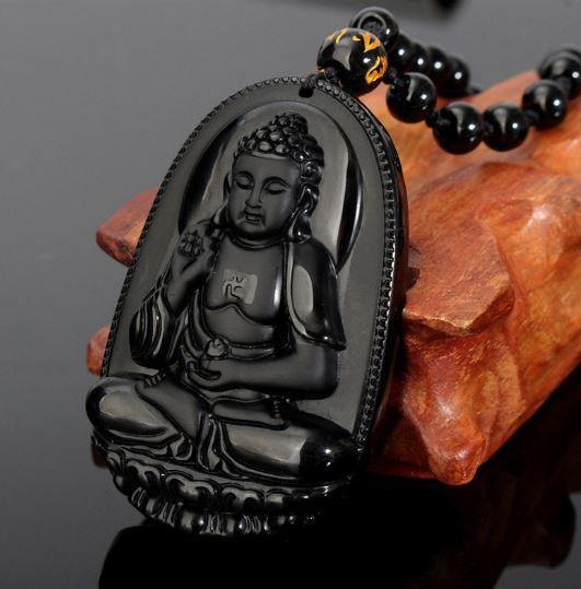 Amitabha Buddha Amulet Necklace by GifthyClub on Etsy