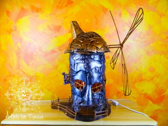Shaped lamp fairytale wind mill