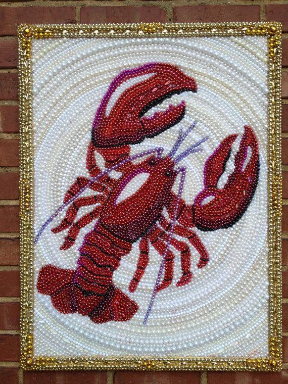 mardi gras bead lobster or crawfish - made to order