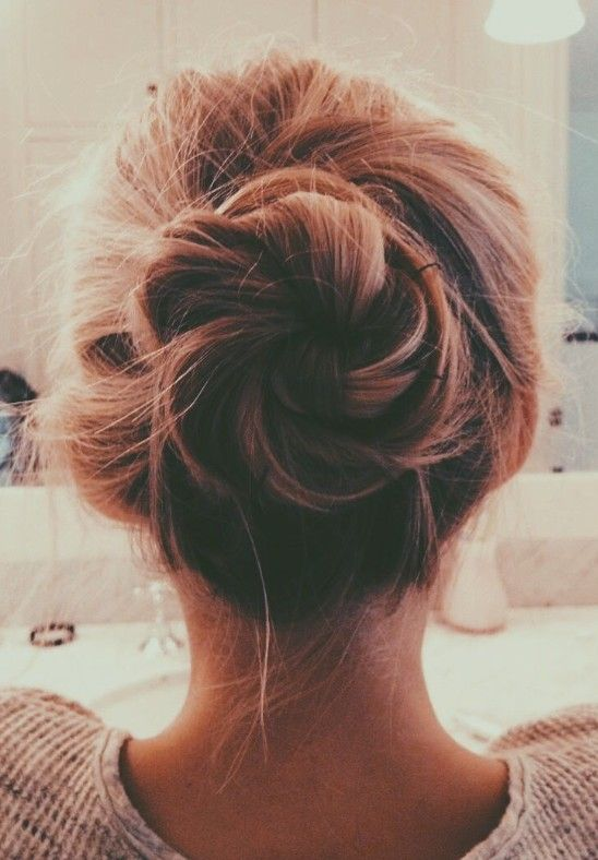 Popular Messy Bun Updo for Women
