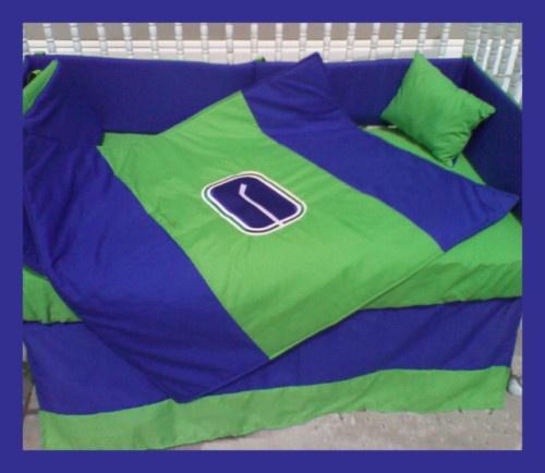 New Crib Bedding Set m/w VANCOUVER CANUCKS hockey team | eBay