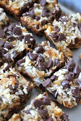 Magic Bars. use gluten free graham cracker crumbs