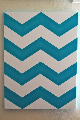 Jake and Tobi: Chevron Canvas