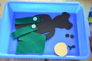 Our easier dress Corduroy activity, plus LOTS of other Corduroy ideas