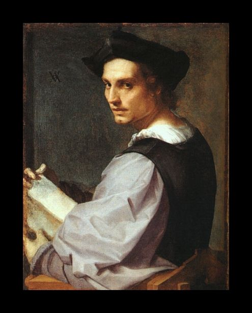 Portrait of a Young Man * Thought to be a self-portrait of the artist, by Andrea del Sarto
