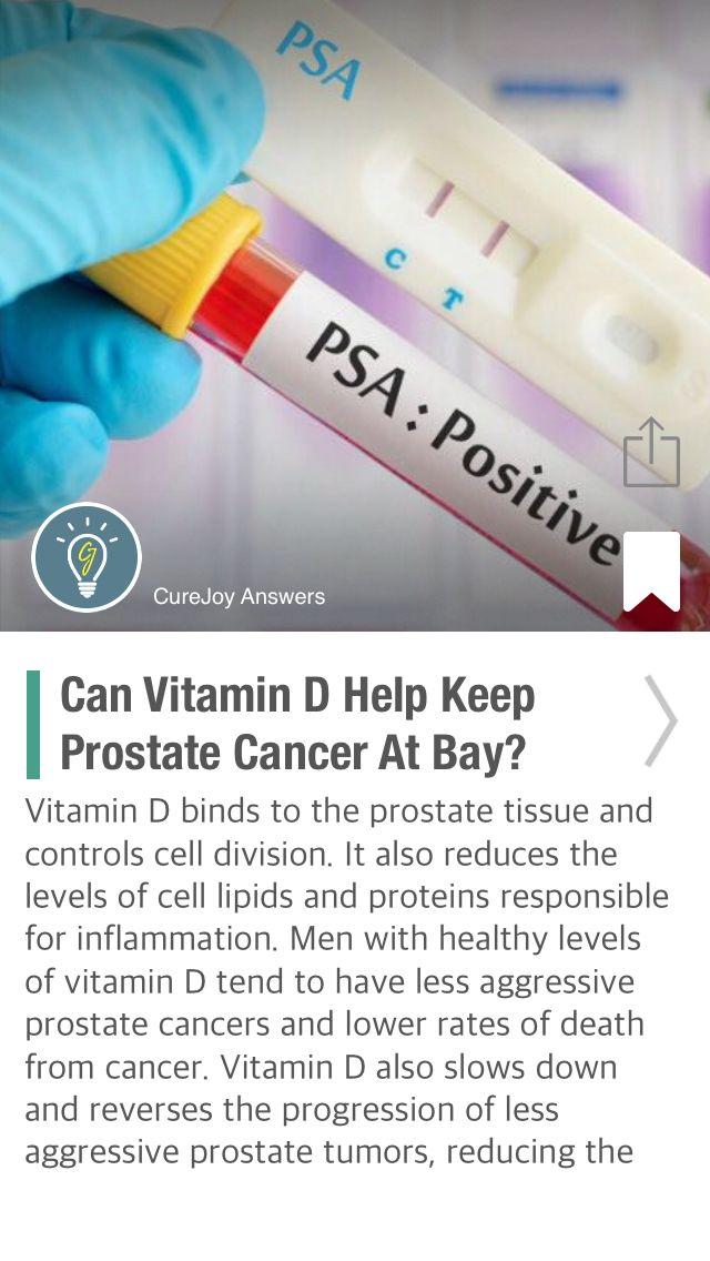 Can Vitamin D Help Keep Prostate Cancer At Bay? - via @CureJoy