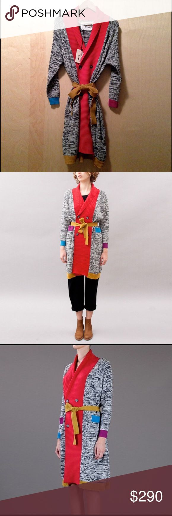 Henrik Vibskov Long Dong Big Cardigan- Multi Henrik Vibskov Long Dong Big Cardigan is multi-color and gallery worthy. Show your color and wear it out to the latest art openings. Henrik Vibskov Sweaters Cardigans