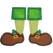 Personalized St Patricks Day leprechaun feet by grammeshouse, $24.00