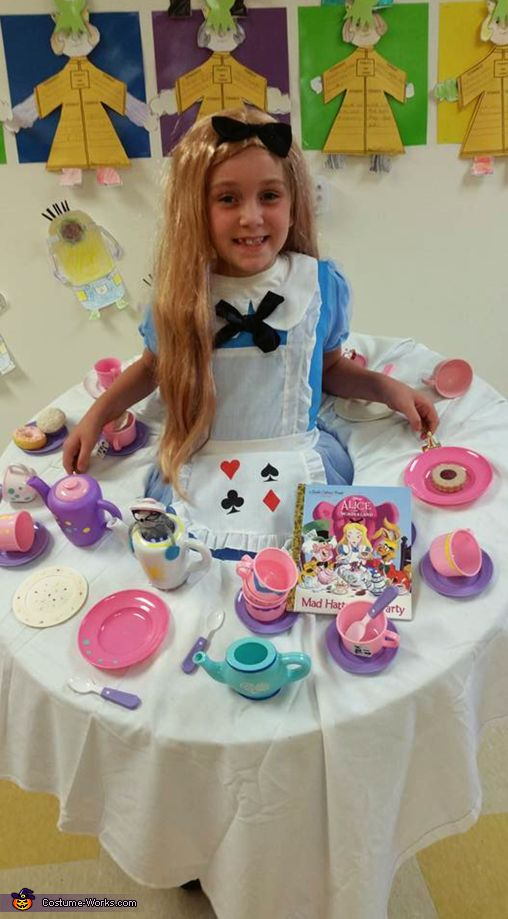 Alice at the Mad Hatters Tea Party - 2017 Halloween Costume Contest