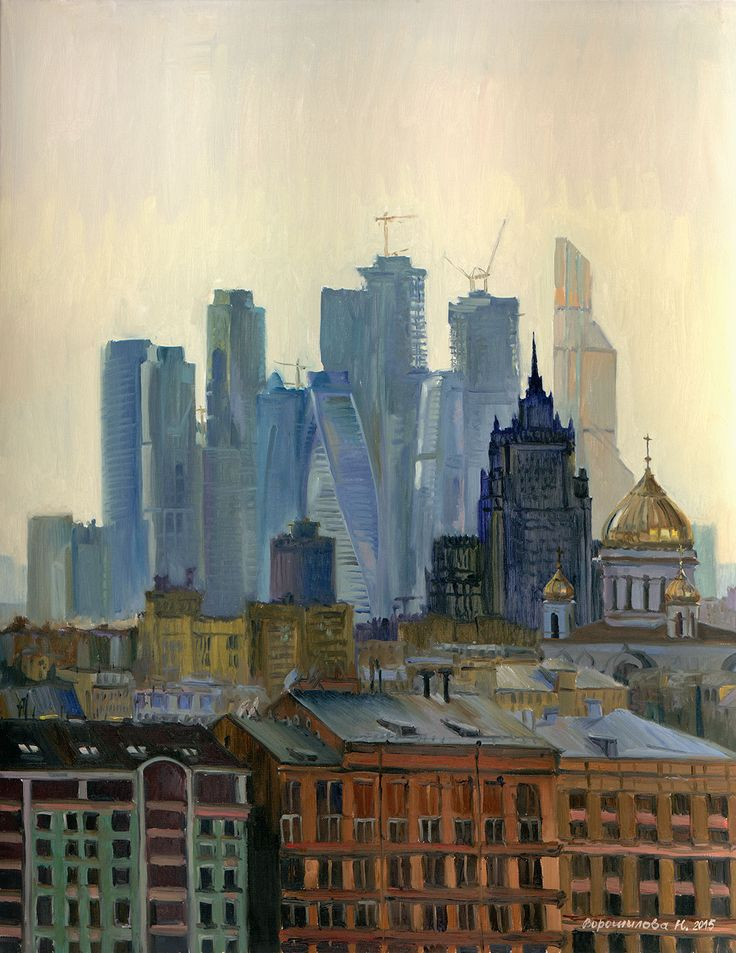 Title: Theatrical decline Artist: Natalia Voroshilova (Novikova) Style: Impressionism Genre: Architecture Medium: Oil on canvas Size(cm): H90*W70 Year: 2015 Country: Russia Description: Skyscrapers and old buildings, churches and construction cranes: everything merges in one feeling of the city when twilight falls. . Visit our website, www.exquisite-art.com to see the art pieces that we have. . #art #pic #oil #artoftheday #arts #asia #store #online #artist #gallery #artwork #picture…