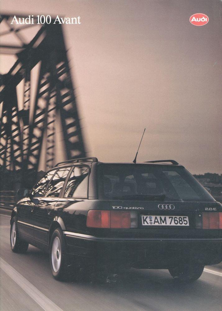 AUDI - 100 Avant full brochure/folder Dutch 1993