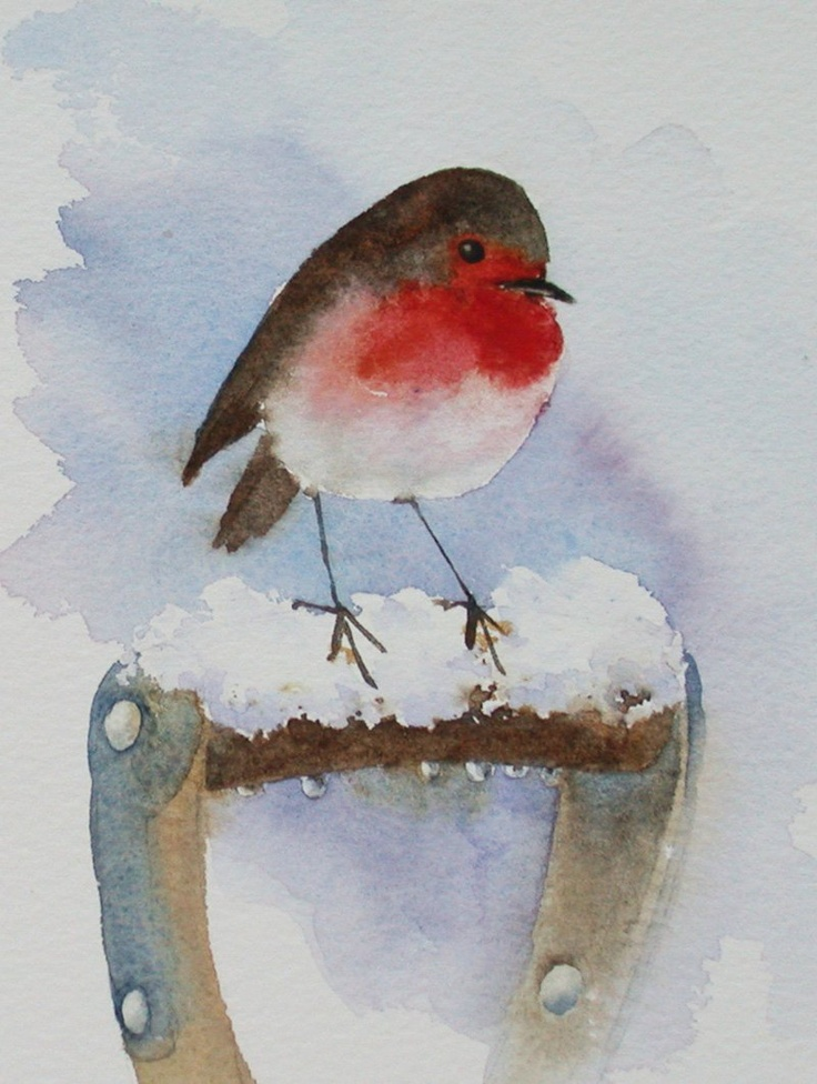 One little robin in a cherry tree One little robin sang a song for me