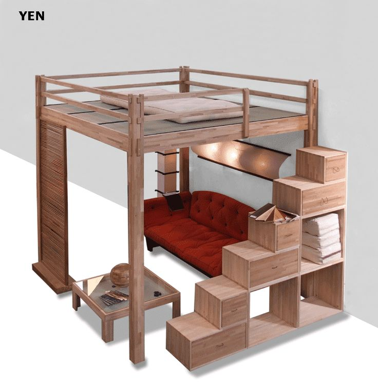 Yen - sleeping loft with fixed height, recommended for ceiling height over 300cm
