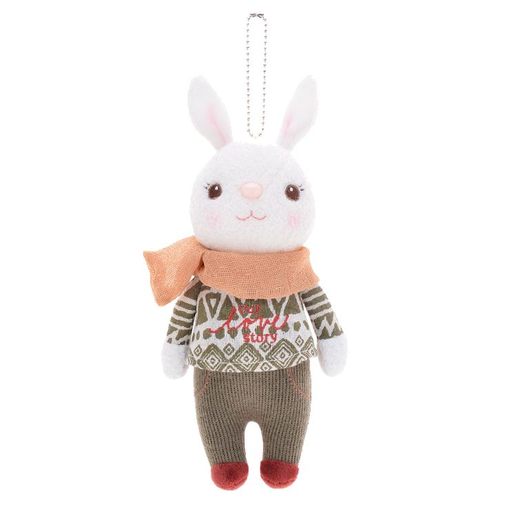 Cute Stuffed Rabbit Doll with 8 Different Clothes (22cm)
