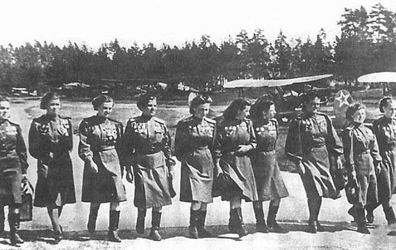 Night Witches: The Female Fighter Pilots of World War II Members of the 588th Night Bomber Regiment decorated their planes with flowers ... and dropped 23,000 tons of bombs.