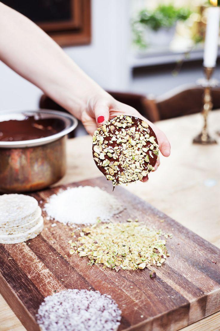 zelf rijstwafel snack maken