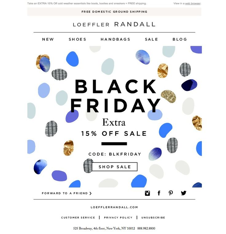 #newsletter #blackfriday Loeffler Randall 11.2014 Ready. Set. Black Friday!
