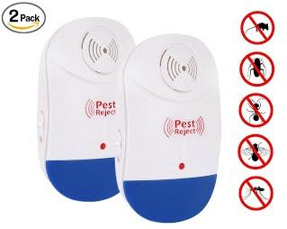 Everteco Ultrasonic Pest Repeller, Electronic Plug In Insect Repellent, Indoor Pest Control with Night Light for Cockroach, Rodents, Flies, Roaches, Ants, Spiders, Fleas, Mice (Upgrade Version) (1)