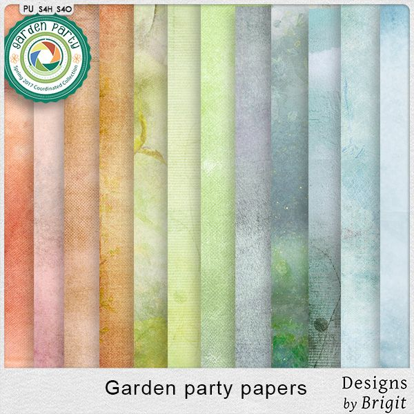 Digital Art :: Paper Packs :: Garden party papers by Designs by Brigit