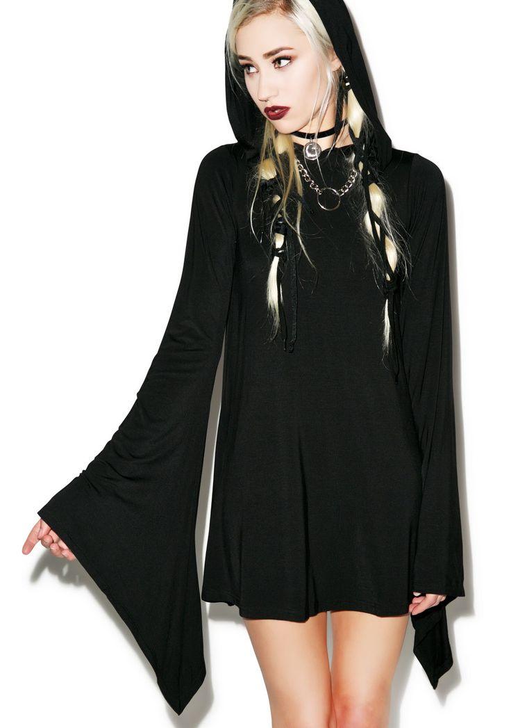 Killstar Witch Hood Flare Dress $76.00 found on dollskill.com
