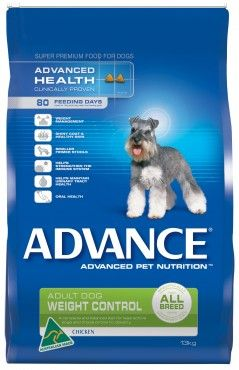 Advance Weight Control All Breed Chicken - A complete and balanced diet for toy and small, less active dogs, and those prone to obesity