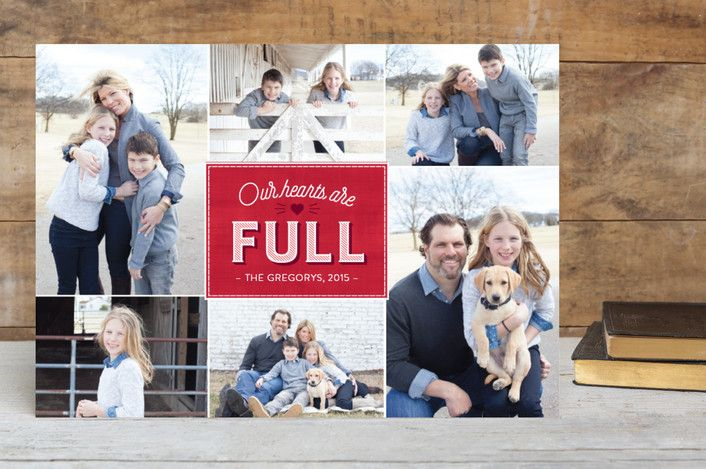 Our Hearts Christmas Photo Cards by Ann Gardner | minted.com This holiday card is great for times you can't decide on just one photo. And the heartfelt message is a perfect sentiment for this time of the year.