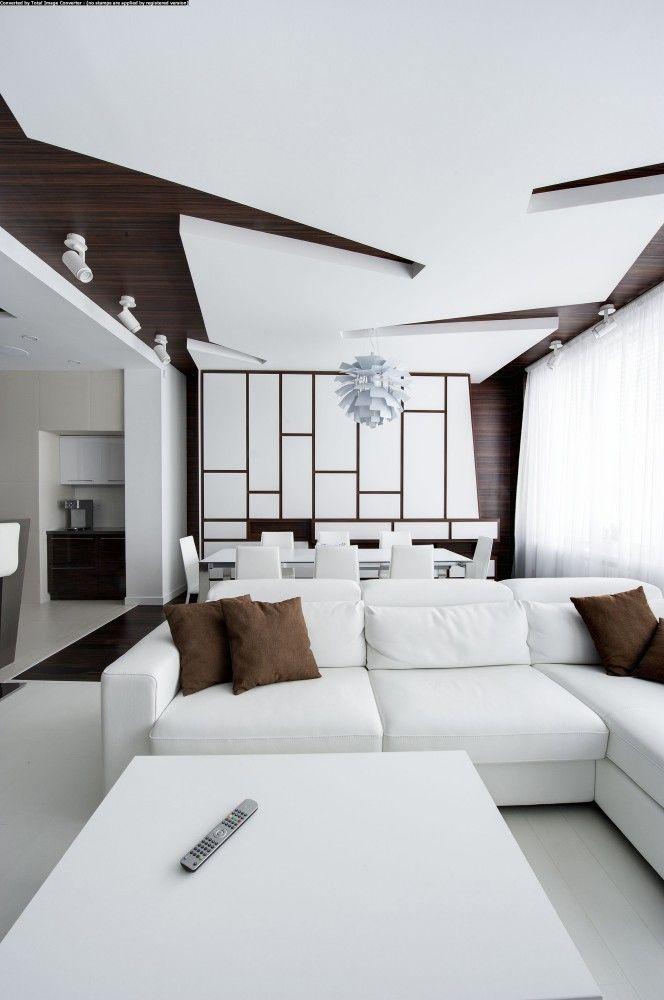 gallery of apartment renovation in moscow vladimir malashonok 3 - Ceiling Design Ideas
