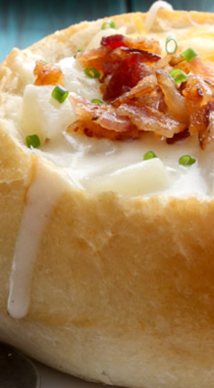 Italian Bread Bowls ~ Easy homemade Italian bread bowls, perfect for soup, chili and chowder!