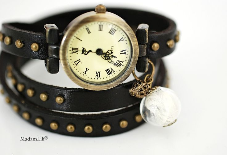 Damski zegarek skórzany Skrzydła anioła #Ribell #MadameLili >> Wybierz Twój na: https://www.ribell.pl/zegarki-recznie-robione-handmade