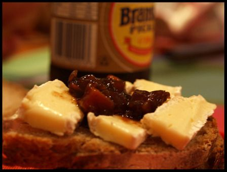 One of my favorite sandwiches is Branston pickle and cheddar cheese.