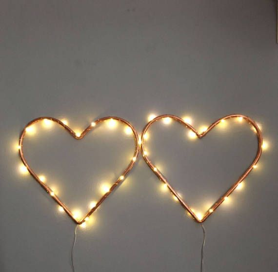 Copper pipe love heart with copper lights Handmade from 10mm copper pipe Approximate size from the bottom to furthest point is 300mm but can be made to any size Battery powered fairy lights already wrapped on the heart so just need to turn it on Al items come gift wrapped