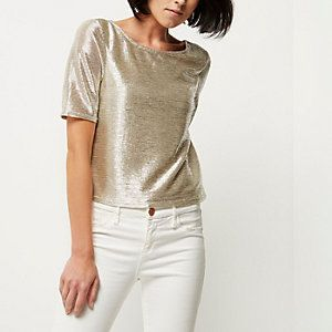 Goud-metallic top