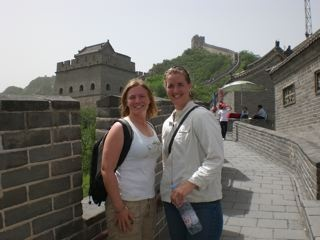 Kristin and I at the Great Wall in China (2008)
