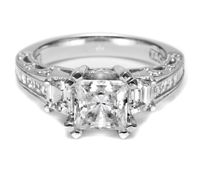 I will accept nothing less than a   Tacori ring as my engagement ringDiamond Engagement Rings, Tacori Rings, Diamonds, Engagementrings, Jewelry, Wedding Rings, Dreams Rings, Princesses Cut, Princess Cut