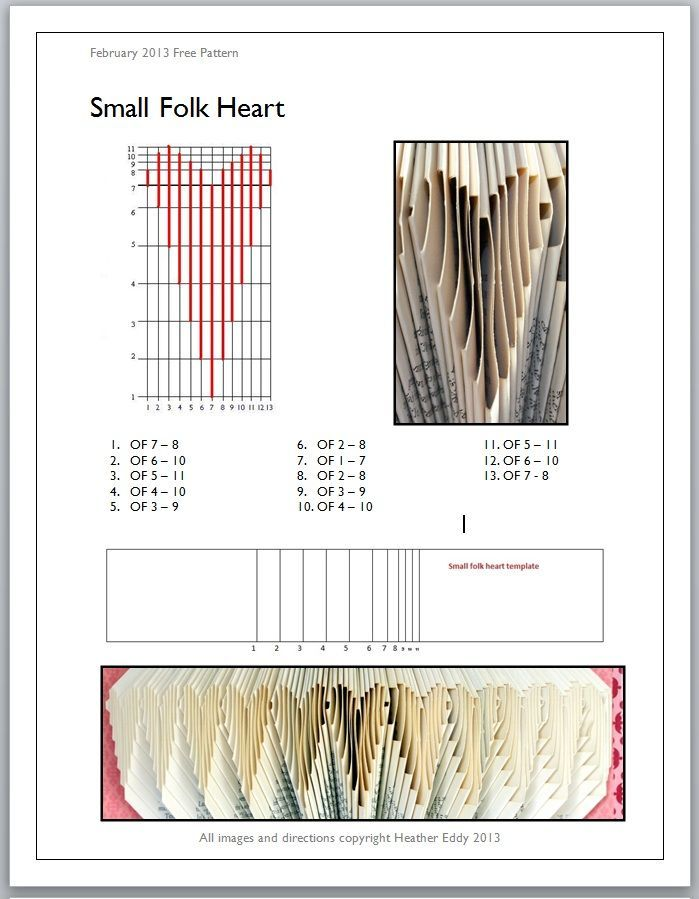 book page folding patterns - Google Search