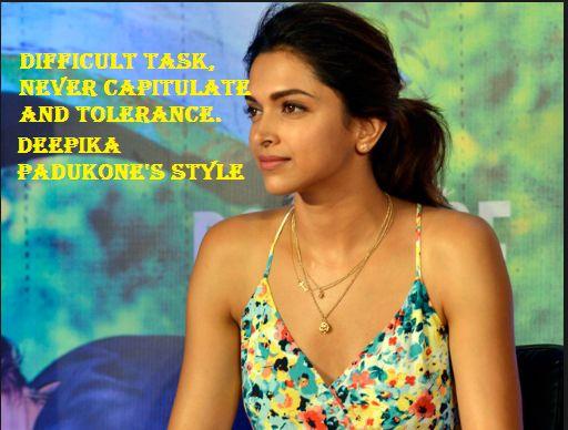 Deepika Padukone's style difficult task