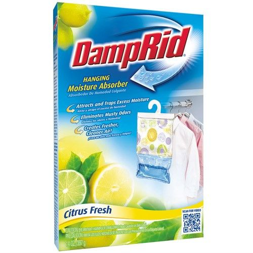 DampRid Hanging Bag Moisture Absorber, Citrus Fresh Scent