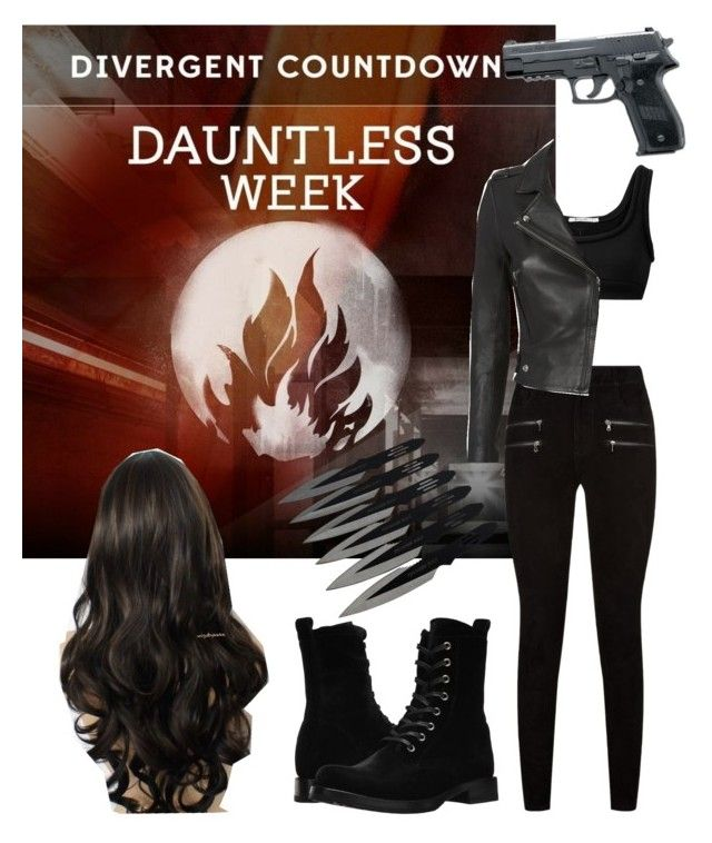 """""""Divergent Dauntless"""" by awliet ❤ liked on Polyvore featuring Paige Denim, T By Alexander Wang, IRO and Frye"""