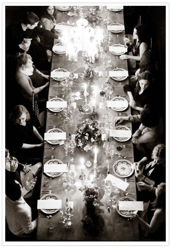 dinner party with friends.