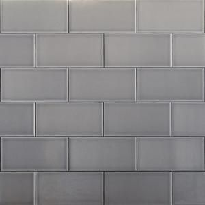 Ivy Hill Tile Magnitude Gray 4 in. x 8 in. x 7.5mm Polished Ceramic Subway Wall Tile (68 pieces / 14.63 sq. ft. / box)
