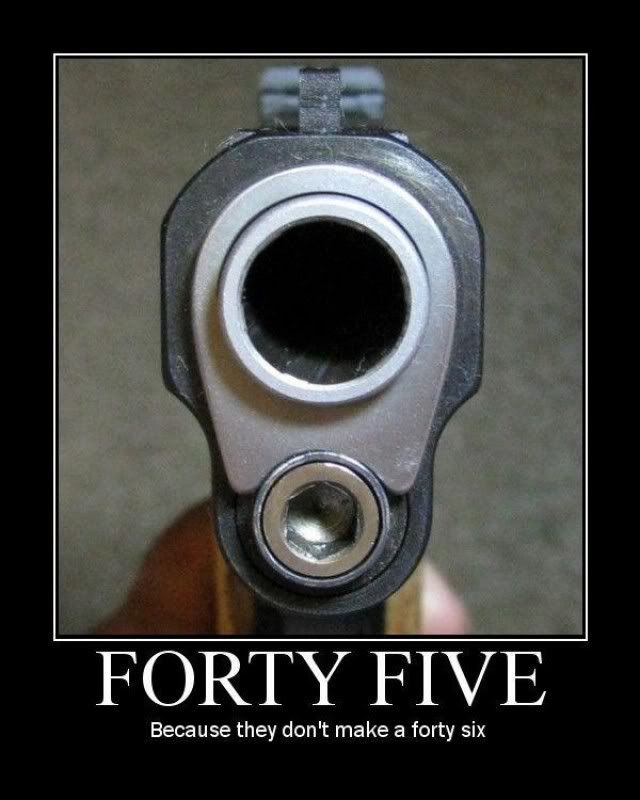 Nothing like a .45