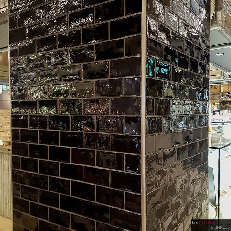 Cheap Spanish Handmade Subway Tiles - Black Gloss 75x150 / 75x300